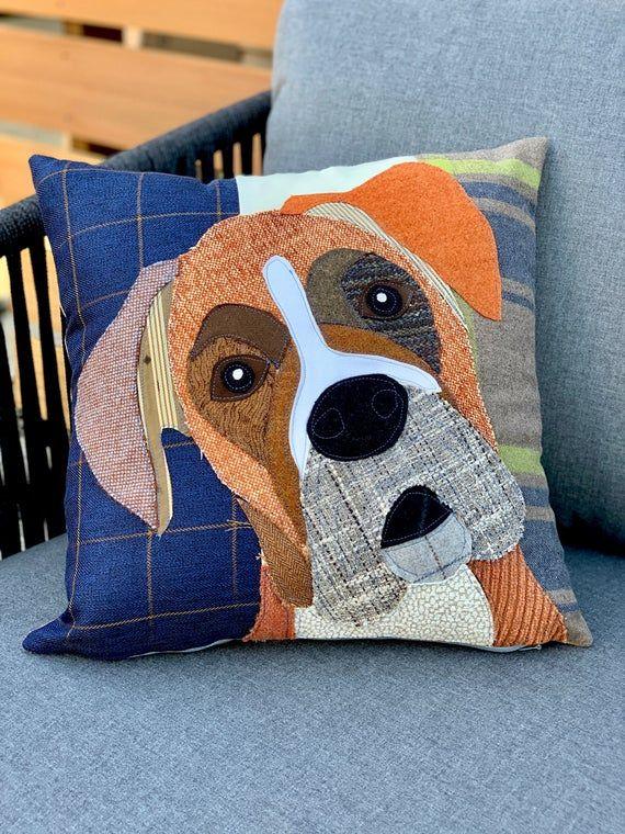 Boxer Dog Pillow Pet Pillow Dog Decor Dog Lover Gift Etsy In 2020 Animal Pillows Custom Dog Pillow Dog Lover Gifts