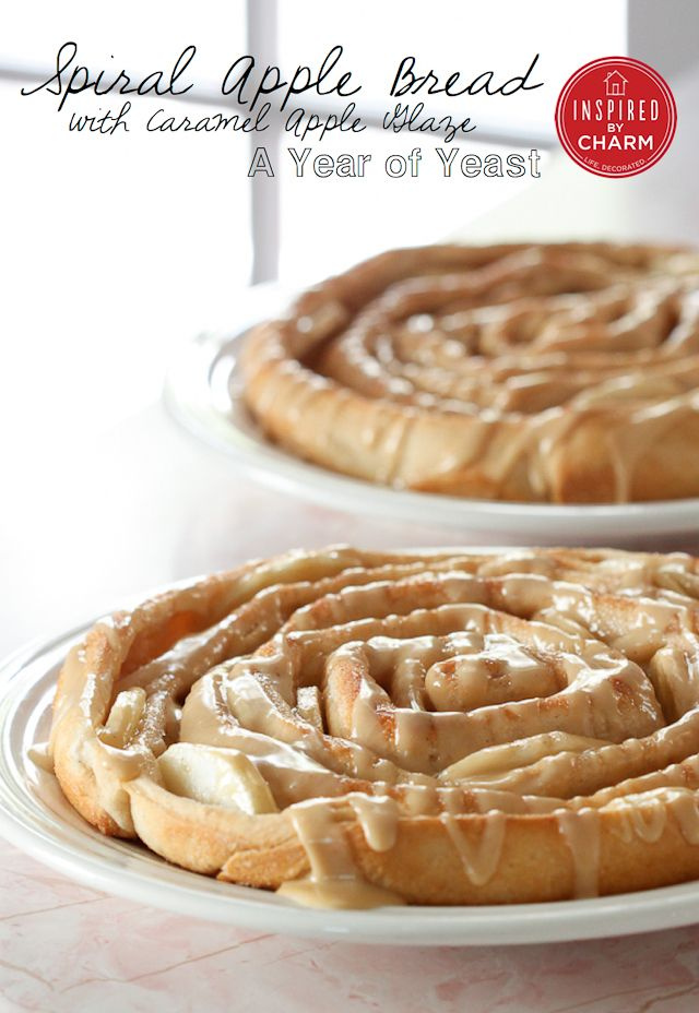 Spiral Apple Bread with Caramel Apple Glaze - oh snap this is delicious.