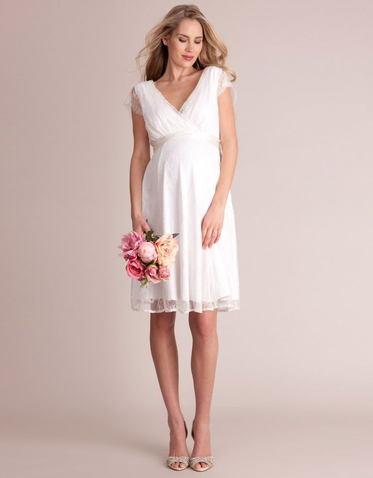 Seraphine Short Lace Maternity Wedding Dress
