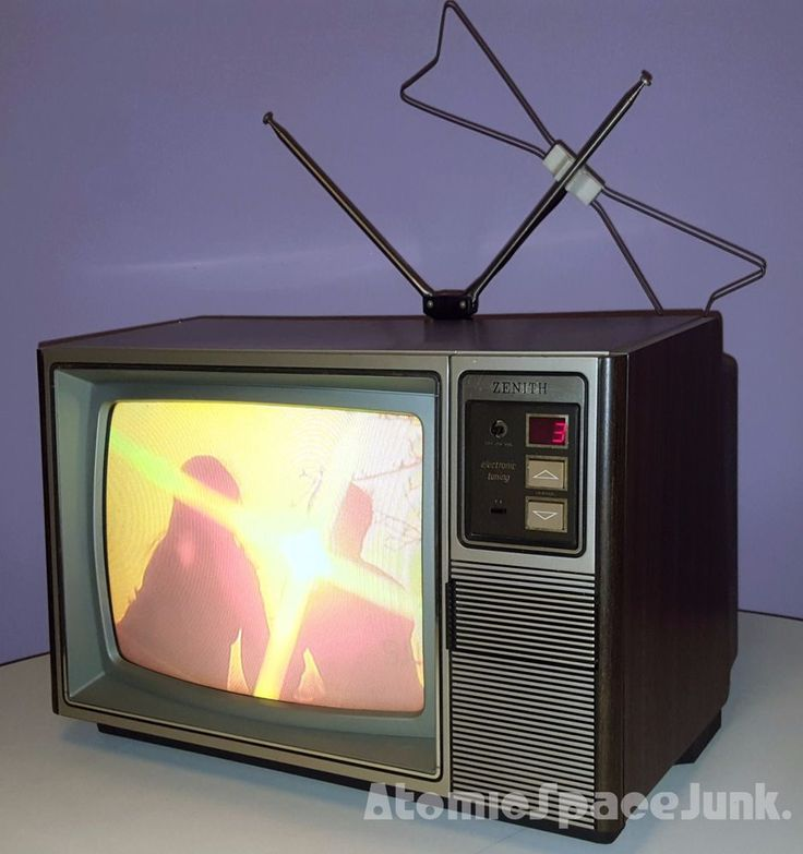 "ZENITH RAPID SCAN VINTAGE TELEVISION SET 13"" COLOR TV 1984 RETRO WALNUT CABINET #ZenithElectronicsLLC"