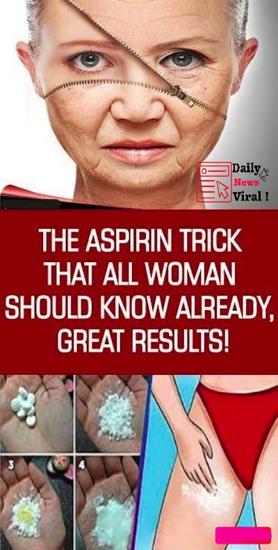 THE ASPIRIN TRICK THAT ALL WOMAN SHOULD KNOW ALREADY, GREAT RESULTS! #aspirin #t…