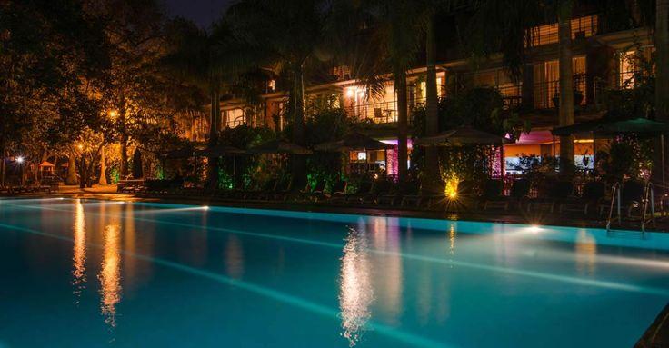 Swimming Pool Night Vew