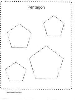 Pentagon Worksheet | Preschool worksheets, Tracing shapes ...