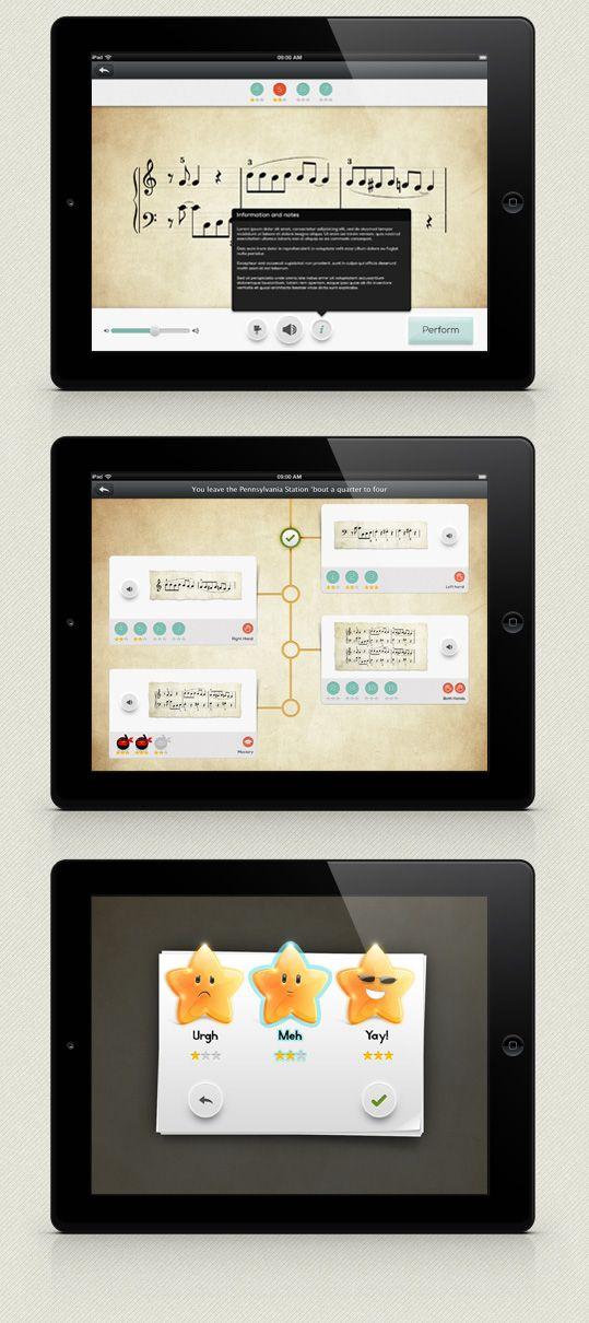 web design kent - iPad user interface design