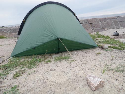 Learn clever ways to guy out a tent in any terrain plus see our top picks for lightweight tents, stakes, and seam sealers
