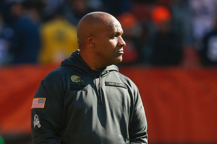 Cowboys vs. Browns:  35-10, Cowboys  -  November 6, 2016  -    Head Coach Hue Jackson watches players warm up before the game against the Dallas Cowboys.
