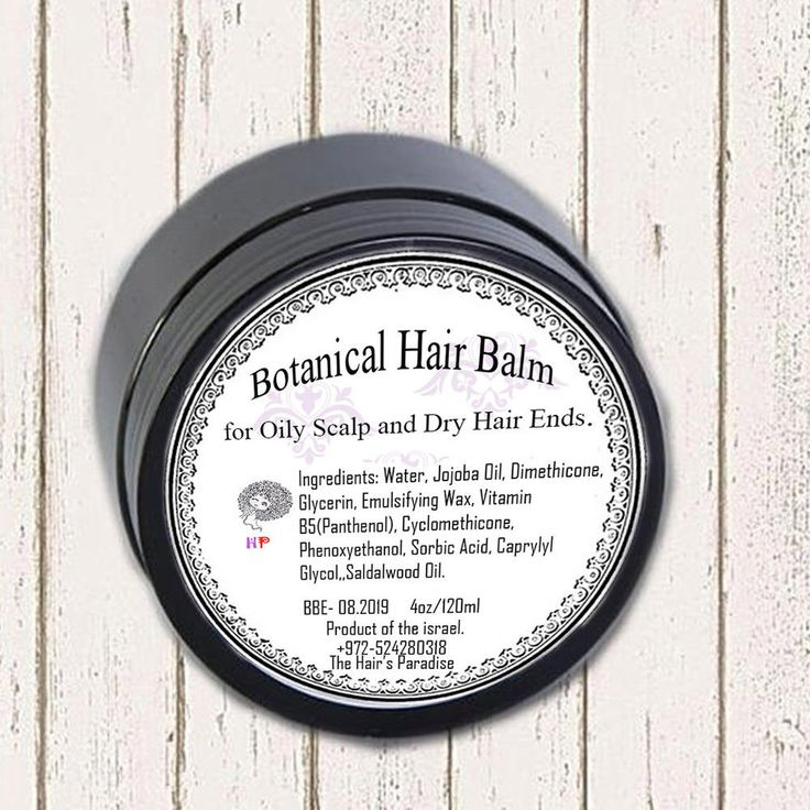 Botanical Hair Balm for Oily Scalp and Dry Hair Ends.4oz #TheHairsParadise