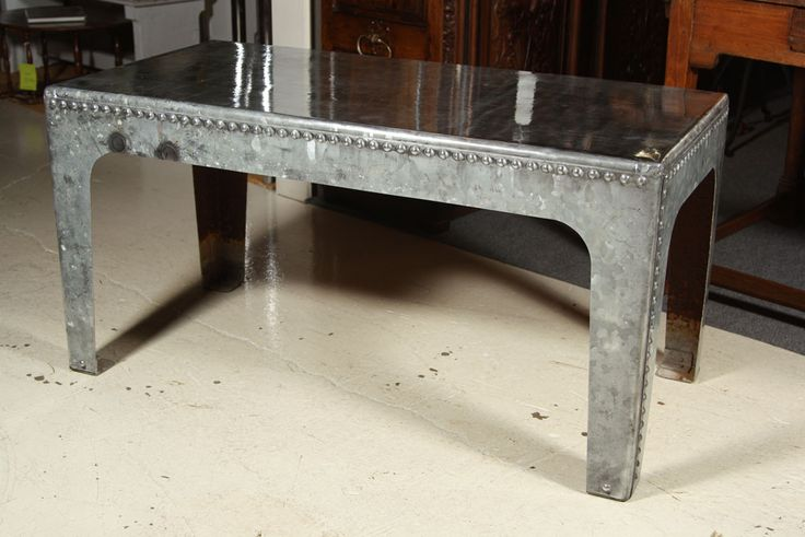 Industrial Water Tank Quot Coffee Quot Table Galvanized Metal