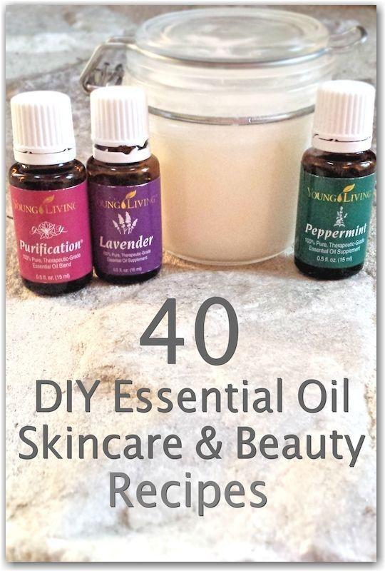 40 DIY Essential Oils Skin Care & Beauty Recipes  -  Hautpflege-Rezepte