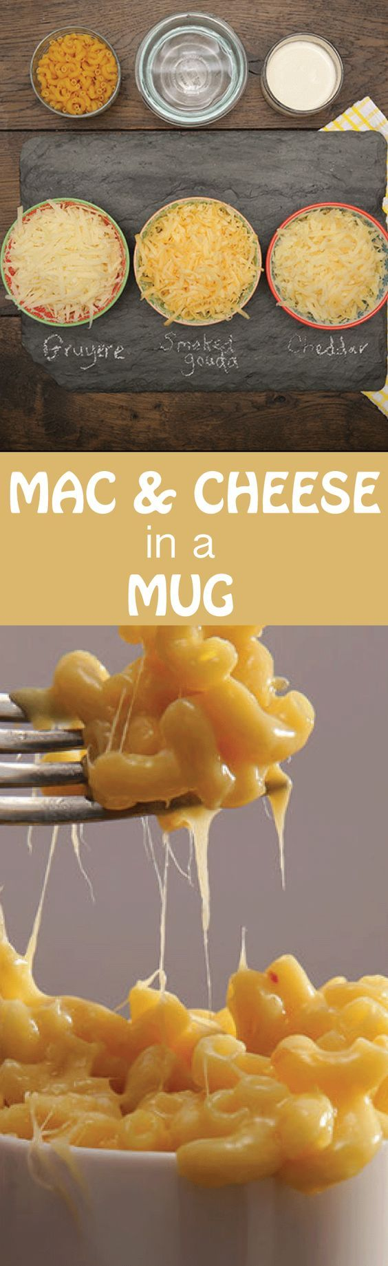 CheeseRank's Mug Mac and Cheese: This recipe is simple, but big on flavor. It's easy enough for kids to make, yet clever enough for adults looking to sneak mac and cheese around the office. Simply put, it's perfect.