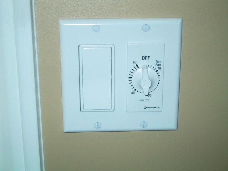 Best 20 bathroom fan light ideas on pinterest bathroom - Bathroom exhaust fan control switch ...