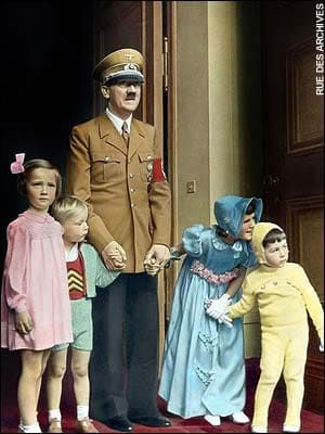 Adolf Hitler Pictures in Color | Adolf Hitler at his 50th birthday party