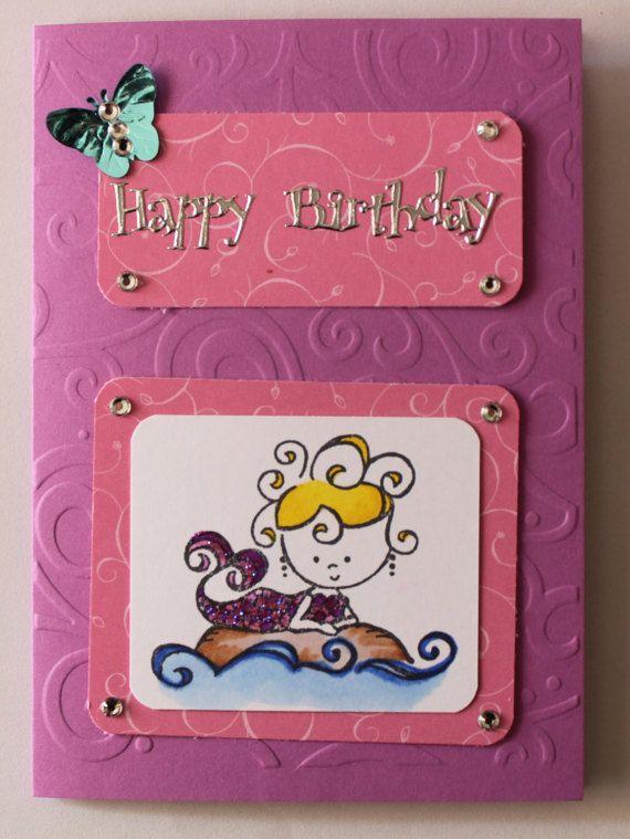 Mermaid Card Kit by JacsCraftyCards on Etsy