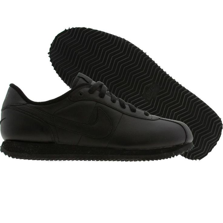 Nike Cortez Basic Leather Black Black Fastest Shoes I