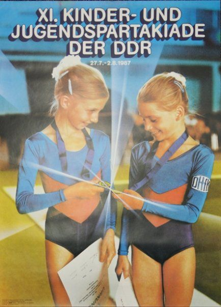 XI. KINDER- UND JUGEND #SPARTAKIADE DER DDR - 1987 ---- sports event for children and youth #GDR