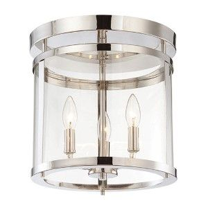 Stanton Brushed Nickel Three Light Foyer Pendant Lantern Pendant Lighting Ceiling Lightin