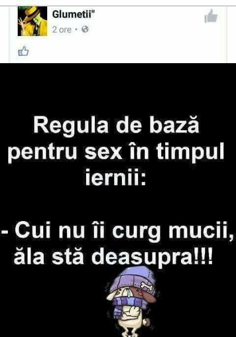 Sex in timpul iernii.