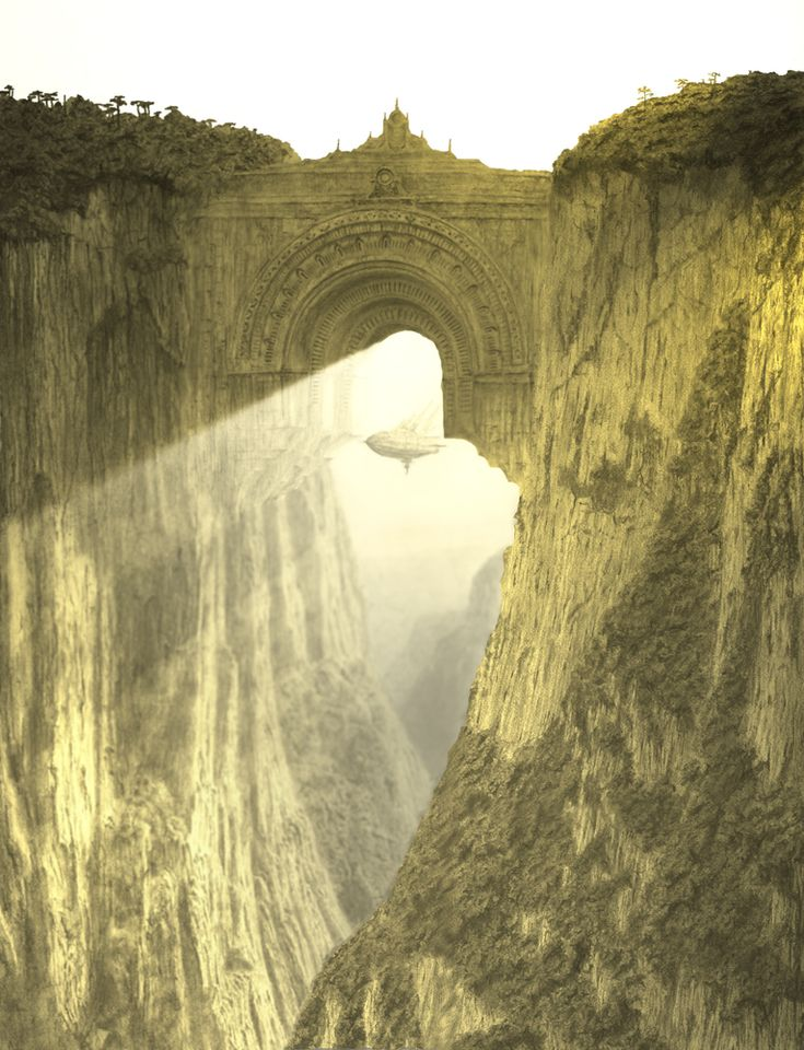 Sky Gate by themindofmadness / olokosmon / montagnes / arche / portail / pont