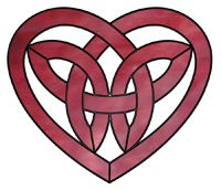 Celtic heart. Open areas within the infinity pattern enhance the design.
