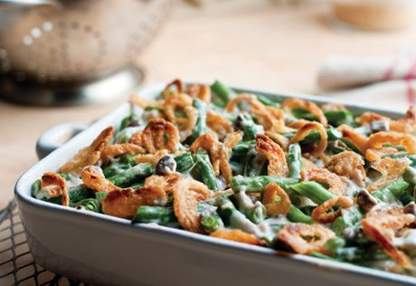 Green Bean Casserole- my favorite Thanksgiving dish! Which is funny because I don't really like green beans.
