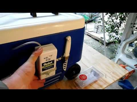 Homemade Cooler Livewell   YouTube