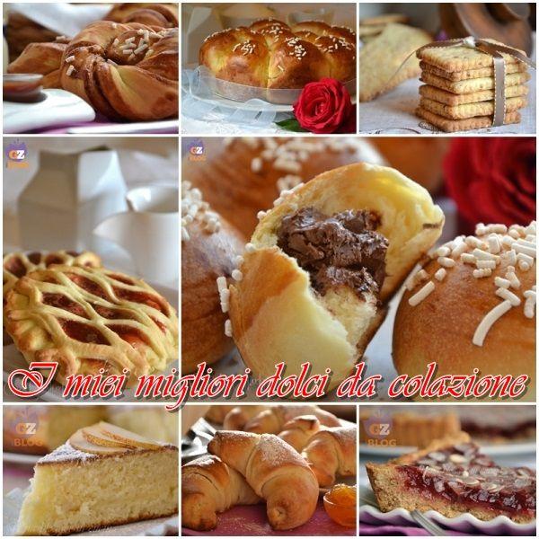 collage ricettario dolci colazione