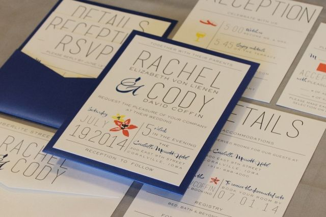 102 best wedding invitations images on pinterest bridal for Royal blue and coral wedding invitations