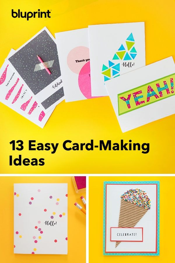 13 Easy Card Making Ideas That Take 30 Minutes Or Less With
