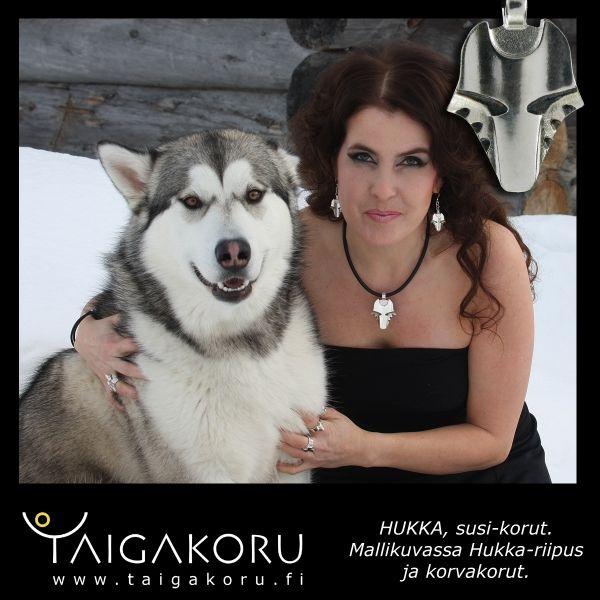 Wolf, Wolf head, pendant. Design Sami Viitasaari