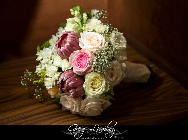 Flower arrangements and bouquets with proteas.  By Greg Lumley Cape Town SP