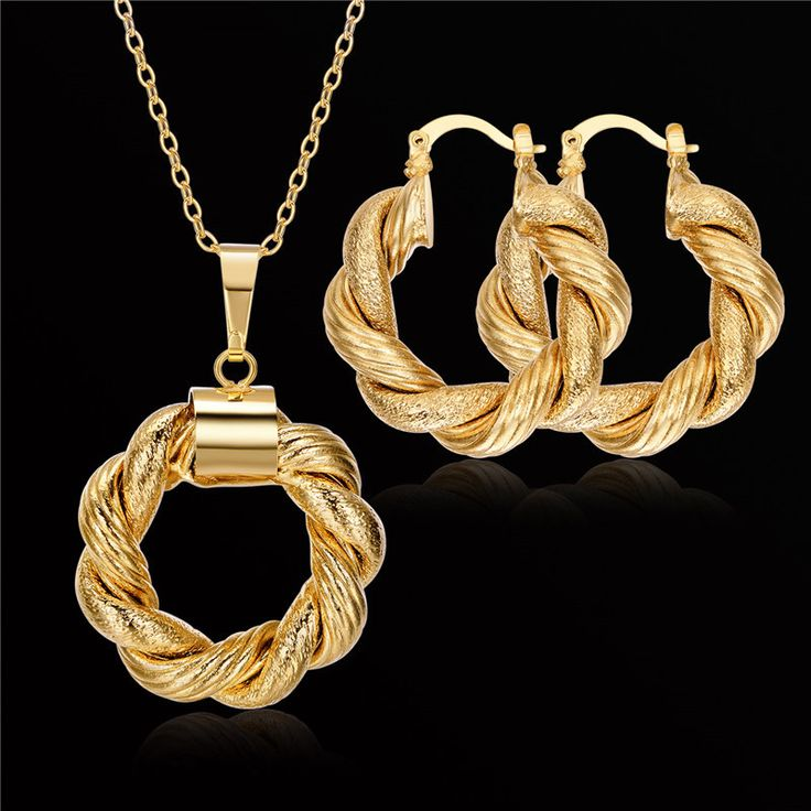 Brand Bridal Jewelry Sets Vintage Necklace And Earring Set For Women Accessories Wholesale Gold Plated Gothic Dubai Jewelry Sets