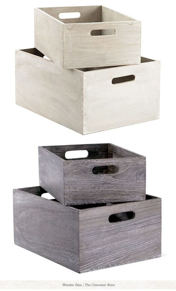 Wood bins for extras and paper