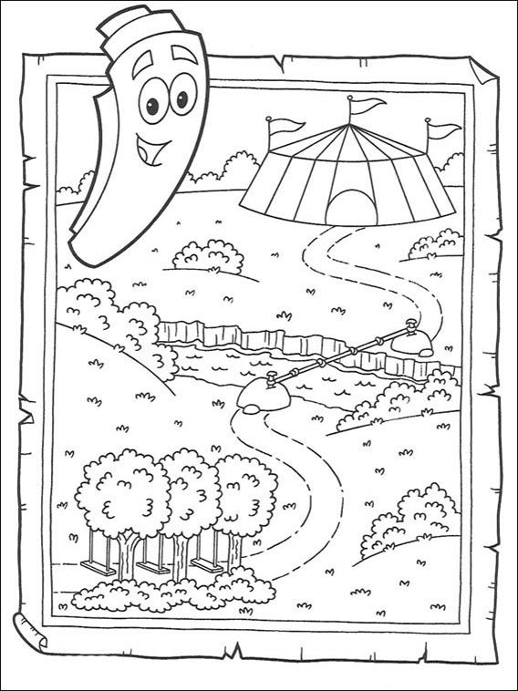 Dora The Explorer Online Coloring Pages Printable Book For Kids 72