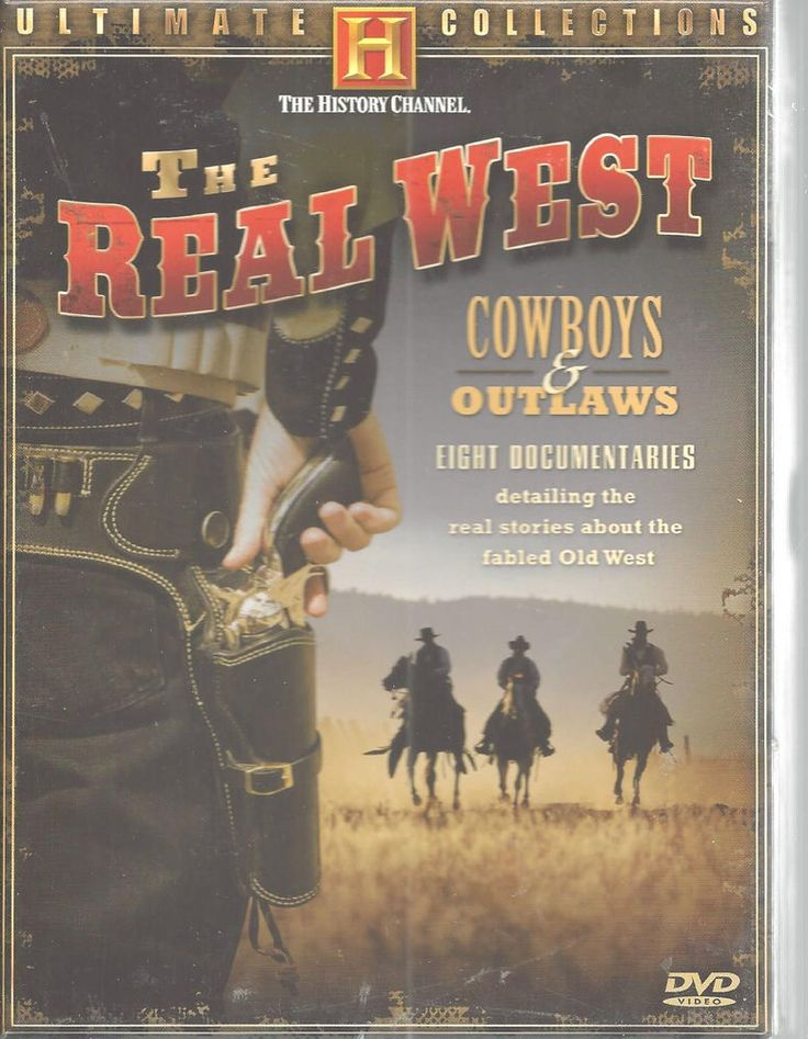 History Channel Real West Cowboys Outlaws 4 DVD Western Ultimate Collection