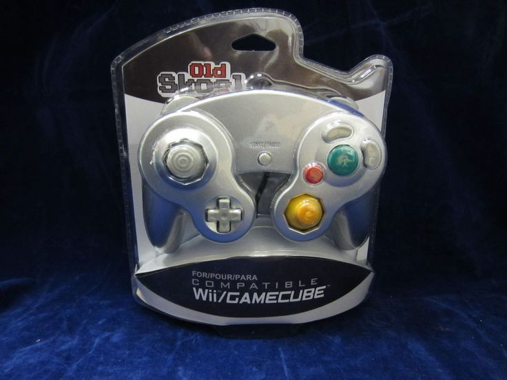 Old Skool Dual Analog Controller for Nintendo Game Cube and Wii - Silver  #OldSkool