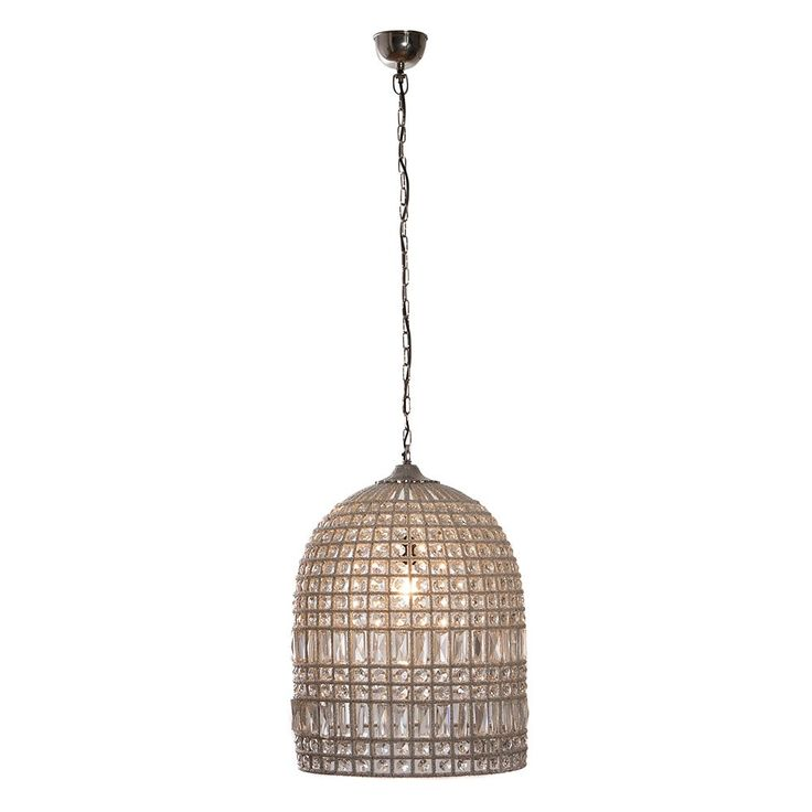 Large nickel crystal pendant light alight here temple webster presents