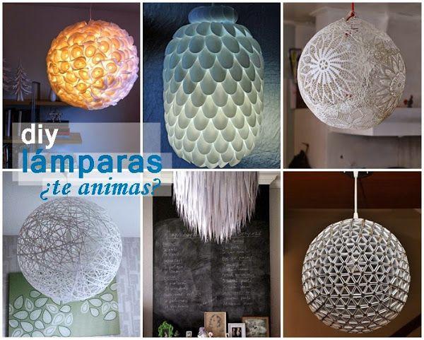 DIY---->Lámparas low cost que harás tu misma. ¿Te animas?