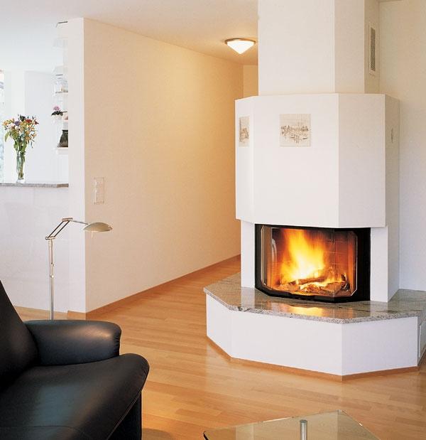 Chemin E Angle Saillant Avec Tablette En Granit Foyer Ruegg Prisma Living Room Inspiration