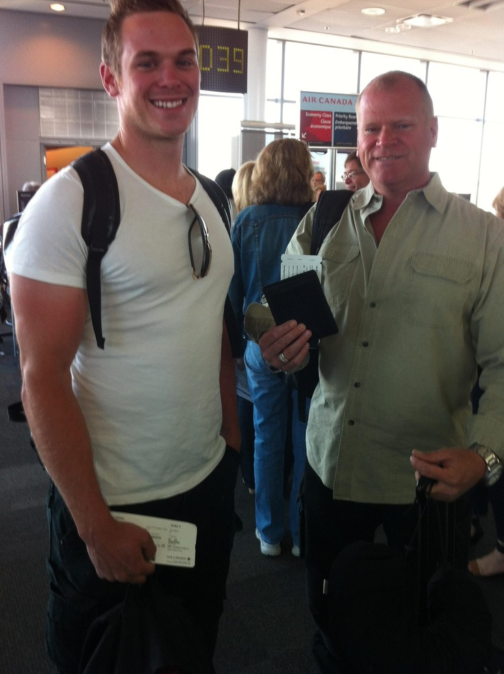Mike Holmes and his son Mike Holmes Jr.... Mmm... Jr. Is hot!!!!!!