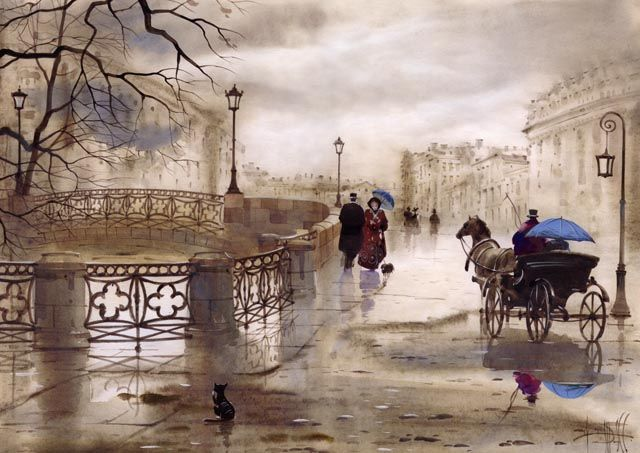 Городские пейзажи САБИРА и СВЕТЛАНЫ ГАДЖИЕВЫХ - Любовь к жизни