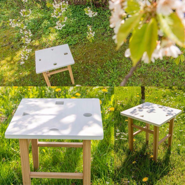 Multifunctional wooden stool. For adult and kids!!! More on www.woodandpaper.pl #woodandpaperpl #wood #oak #kids #stool #carpentry #60s #scandynavian #education