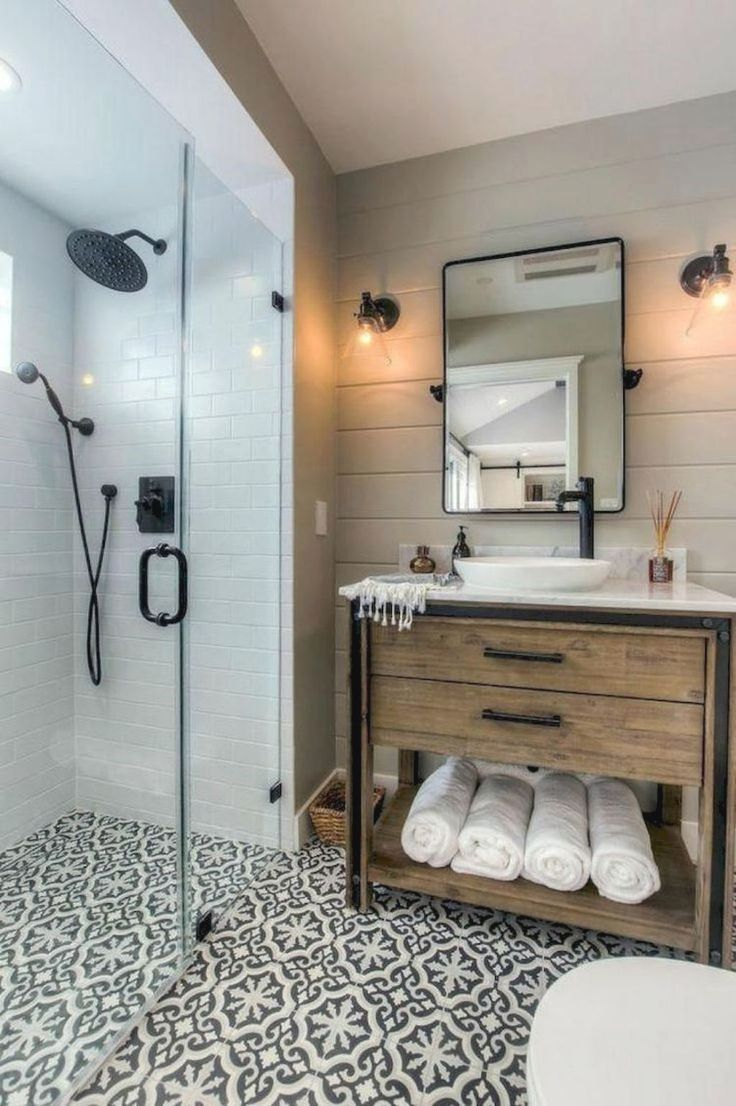 We Ve Been Working Hard On This Bathroom Renovation For Months We Gutted It Down To The Ceme Small Bathroom Remodel Bathroom Makeover Bathroom Interior Design