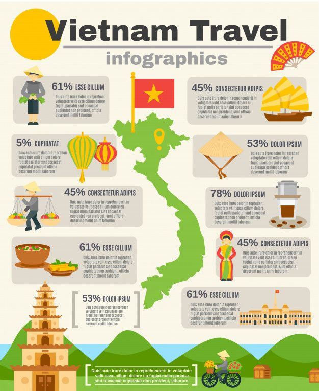 Vietnam Travel Infographic Set Free Vector Freepik Vector Freeinfographic Freebusiness Freecoffee Travel Infographic Vietnam Travel Vietnam Travel Guide