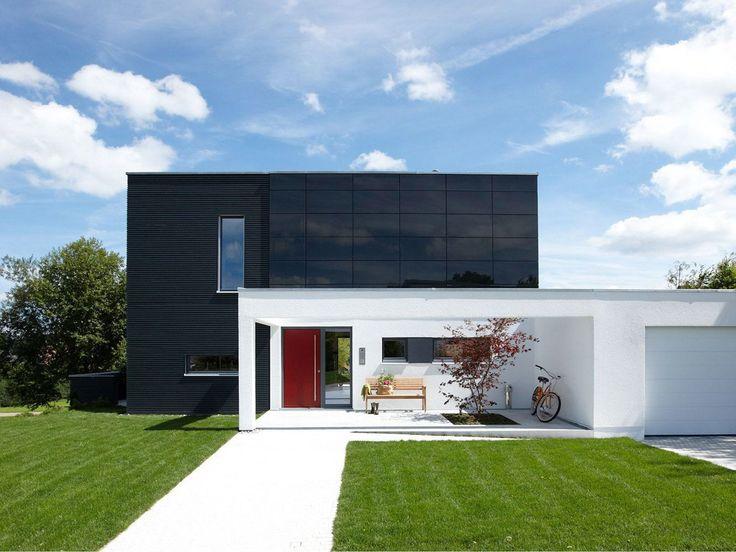 30 besten massivhaus bilder auf pinterest architektur for Musterhaus flachdach