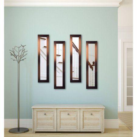 Rayne Shiny Bronze Mirror Panel, Set of 4