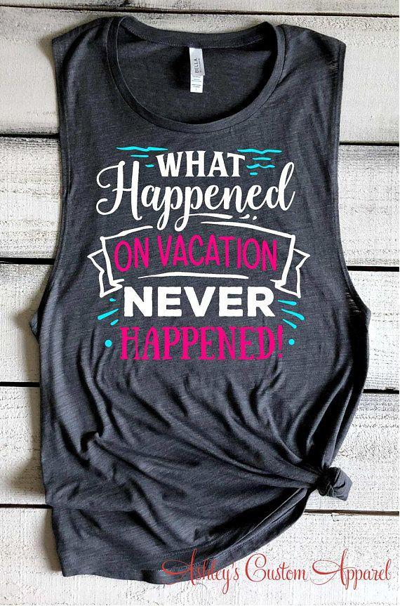 fde9a8bc0c545 Girls Trip Shirts Funny Vacation Shirts Beach Cover Up Family Cruise Shirt  Summer Vacation Tank Tops Bella Muscle Tank Beach Shirts Drinking