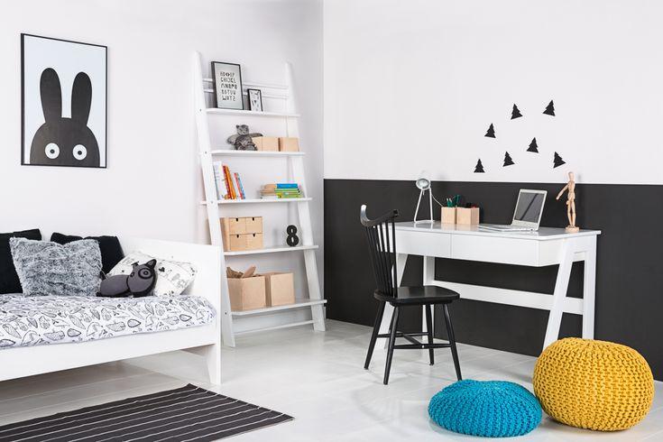 Białe meble dla dzieci - WYSOKI regał drabinka półki - elies.pl