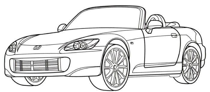 Honda S2000 Coloring Page Places