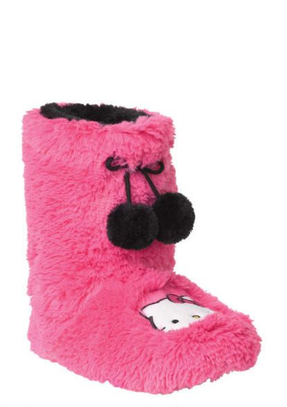PINK HELLO KITTY SLIPPERS