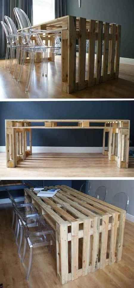 Utiliser une palette en bois pour faire une table à manger